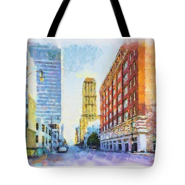Memphis City Street Tote Bag