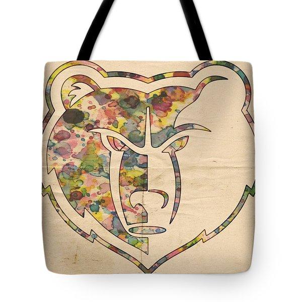Memphis Grizzlies Logo Art Tote Bag