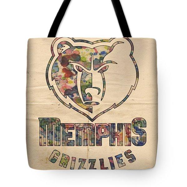 Memphis Grizzlies Poster Art Tote Bag