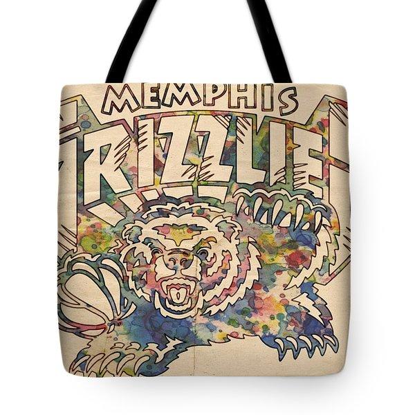 Memphis Grizzlies Poster Vintage Tote Bag
