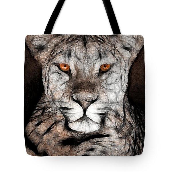 Memphis Leopard Artwork Tote Bag