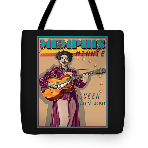 Memphis Minnie Queen Of The Delta Blues Tote Bag by Larry Butterworth