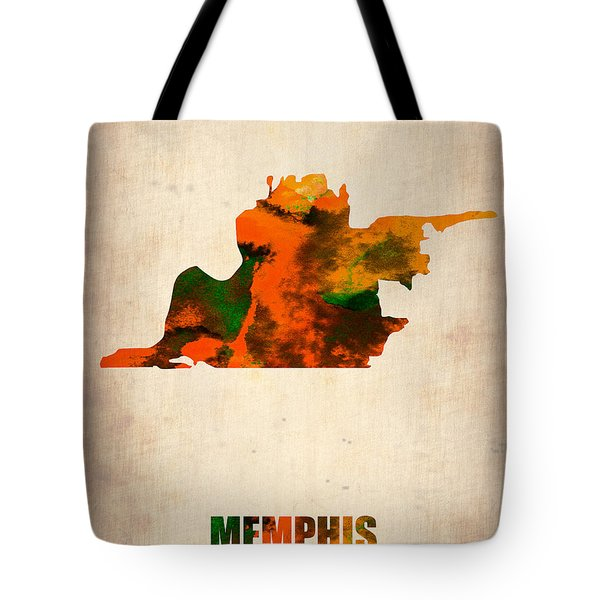 Memphis Watercolor Map Tote Bag