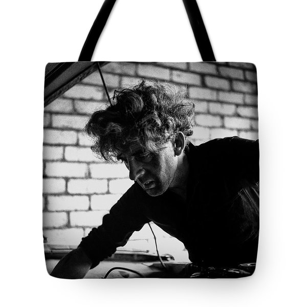 Tote Bag featuring the photograph Men At Work - Series I by Doc Braham
