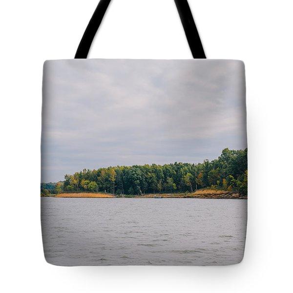 Men Fishing On Barren River Lake Tote Bag