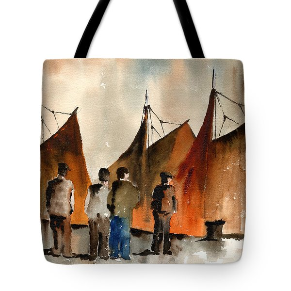 Men Looking At Hookers  Galway Tote Bag
