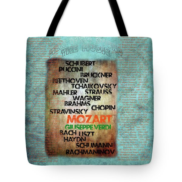 Men Who Found The Music Tote Bag