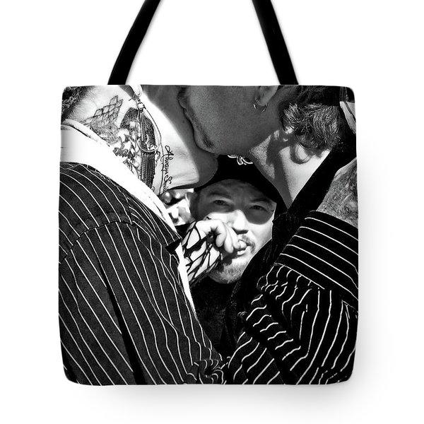 Menage A Trois Tote Bag by Kathleen K Parker