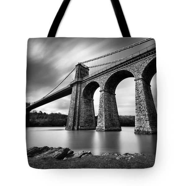 Menai Suspension Bridge Tote Bag