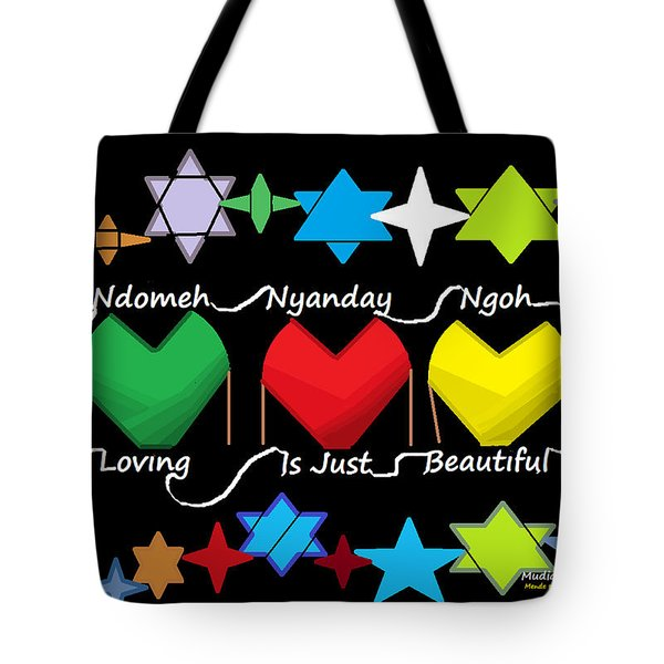 Tote Bag featuring the digital art Mende Truths And Proverbs 0001 by Mudiama Kammoh