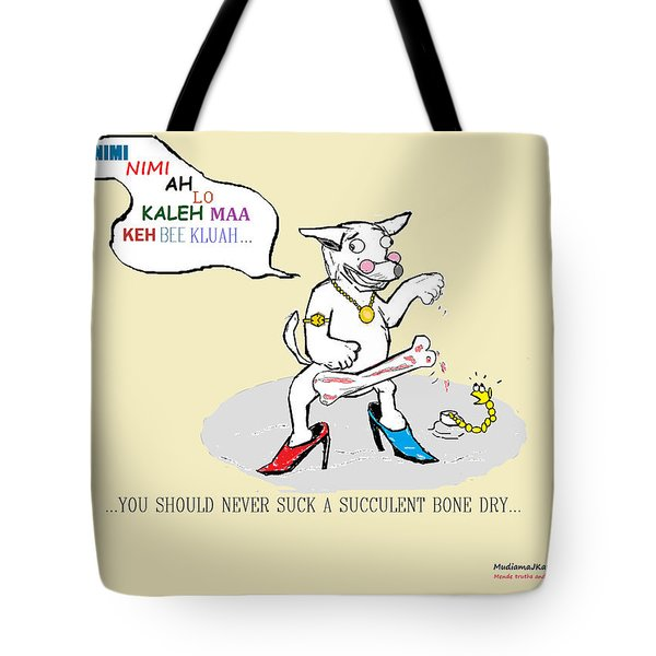 Tote Bag featuring the drawing Mende Truths And Proverbs 003 by Mudiama Kammoh