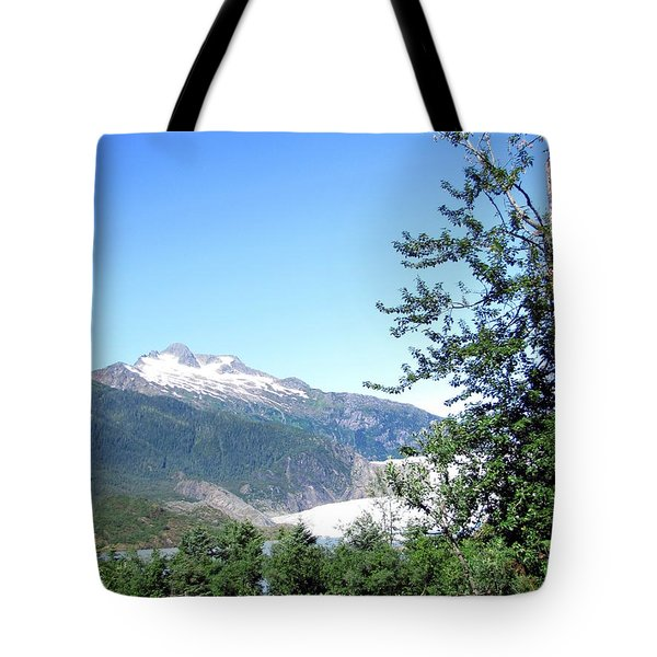 Tote Bag featuring the photograph Mendenhall Glacier by Jennifer Wheatley Wolf