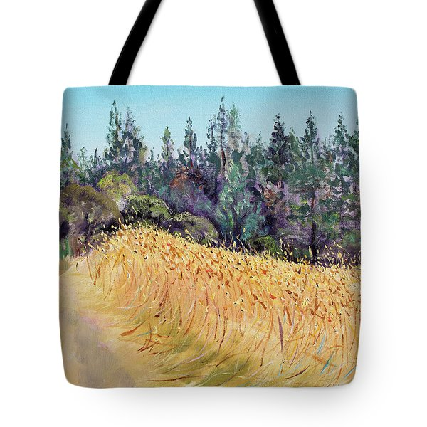 Mendocino High Grass Meadow At Susan's Place In July Tote Bag