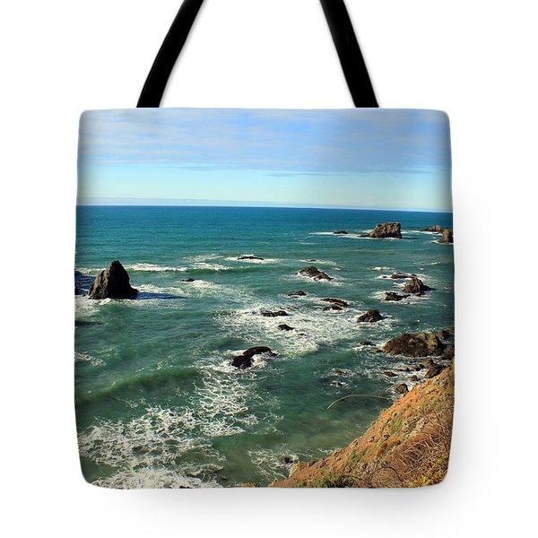 Mendocino Rocks Tote Bag
