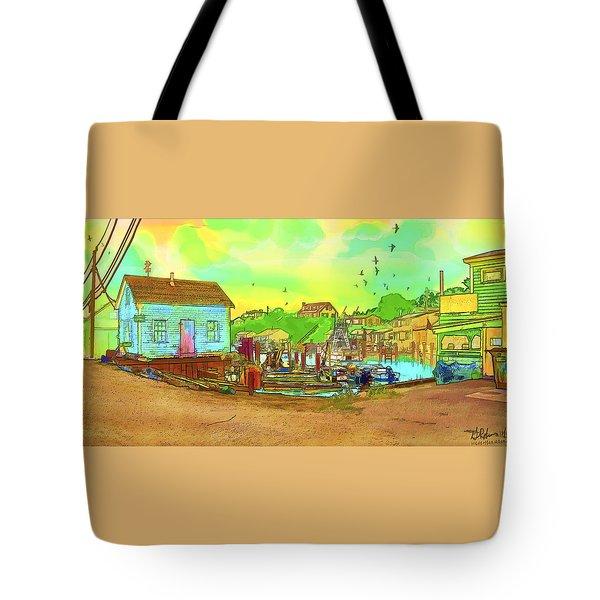 Menemsha Harbor Tote Bag by Gerry Robins