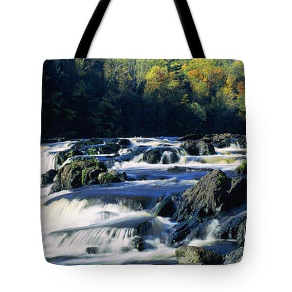 Menominee River Falling Into Piers Tote Bag