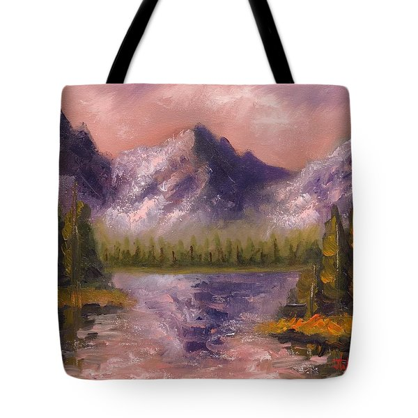 Tote Bag featuring the painting Mental Mountain by Jason Williamson