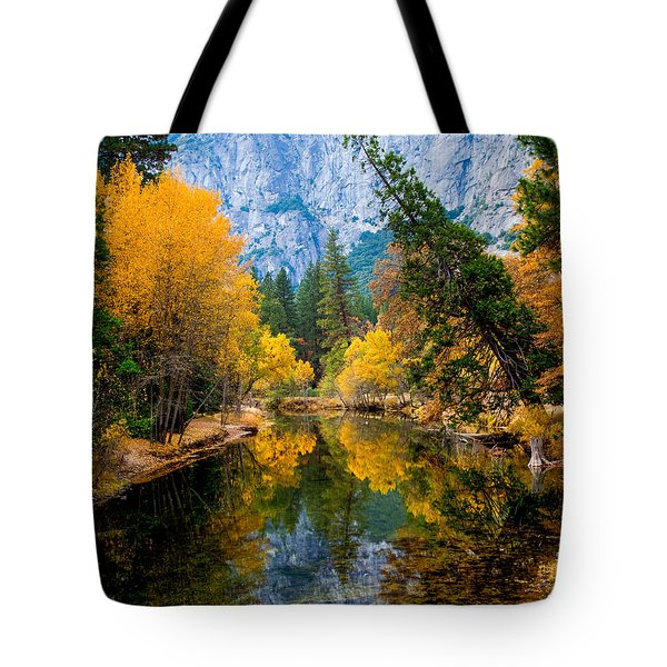 Merced River And Leaning Pine Tote Bag