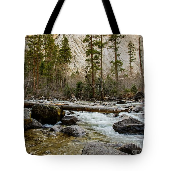 Merced River From Happy Isles 2 Tote Bag
