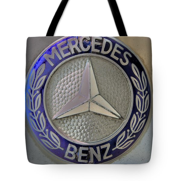 Mercedes Benz Badge Blue Tote Bag