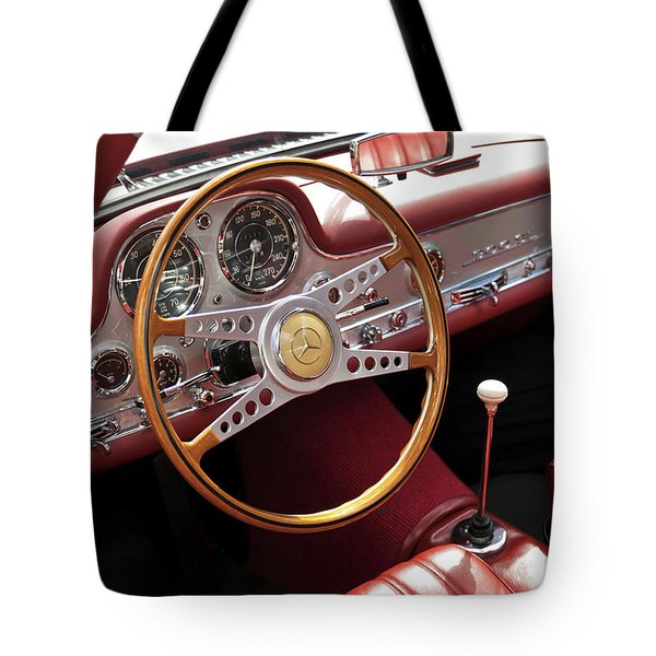 Mercedes Benz Gullwing 1956 Tote Bag
