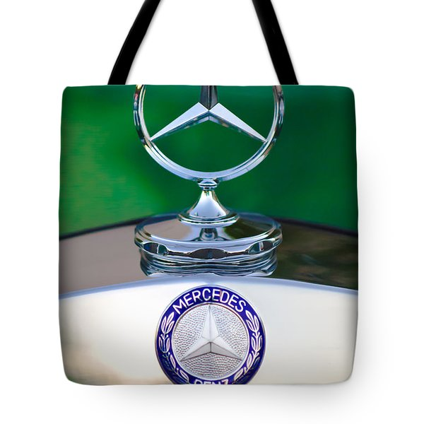 Mercedes Benz Hood Ornament 3 Tote Bag by Jill Reger