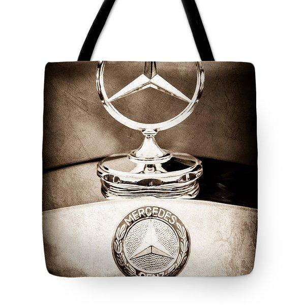 Mercedes-benz Hood Ornament - Emblem Tote Bag