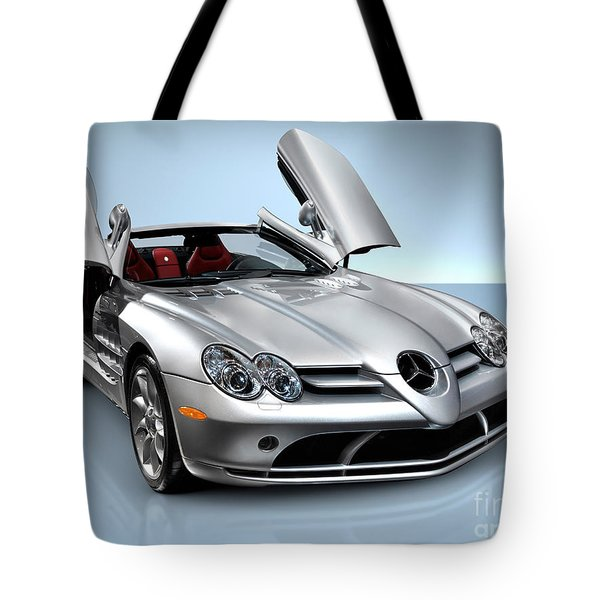 Mercedes Benz Slr Mclaren Tote Bag