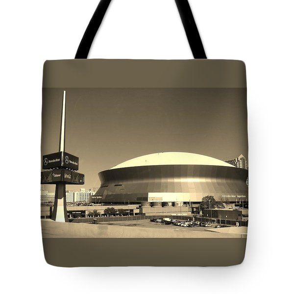 Mercedes Benz Superdome - New Orleans La Tote Bag by Deborah Lacoste