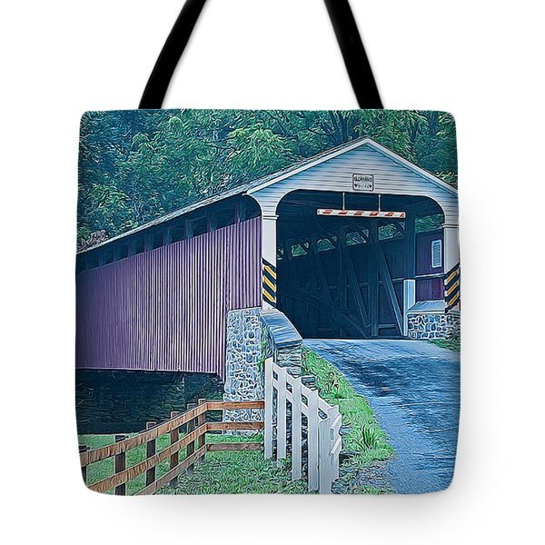 Mercer's Mill Covered Bridge Tote Bag