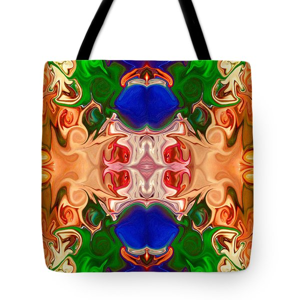 Tote Bag featuring the digital art Merging Consciousness With Abstract Artwork By Omaste Witkowski  by Omaste Witkowski