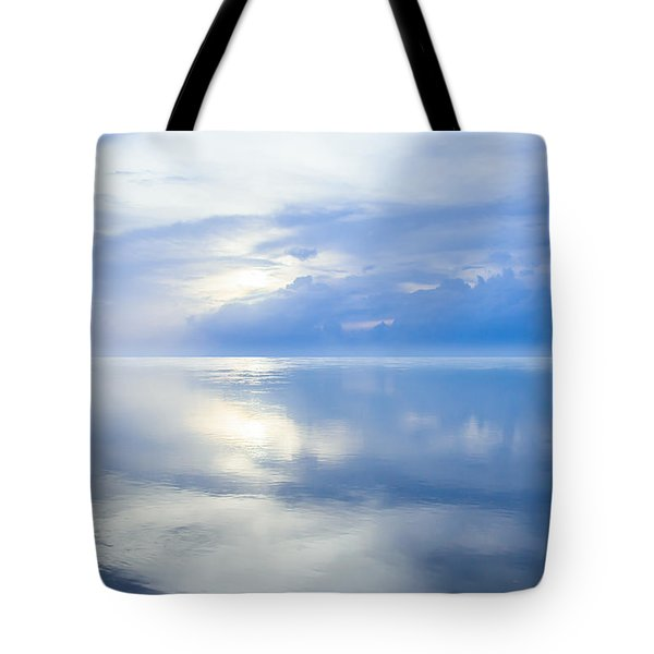 Merging Horizons Tote Bag
