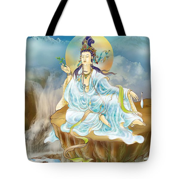 Merit King Kuan Yin Tote Bag by Lanjee Chee
