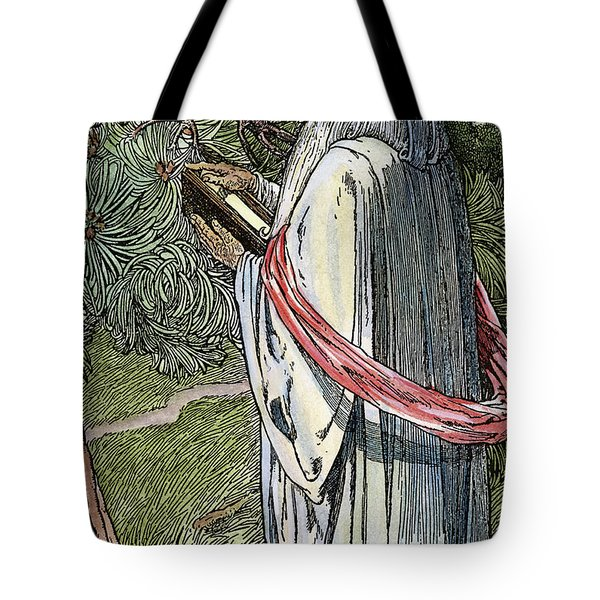 Tote Bag featuring the drawing Merlin The Magician, 1923 by Granger
