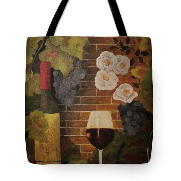 Merlot For The Love Of Wine Tote Bag by John Stuart Webbstock