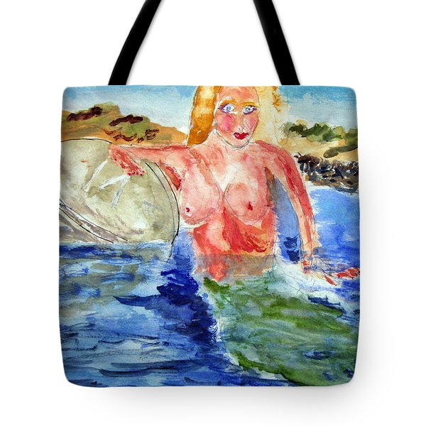 Mermaid And The Buoy Tote Bag