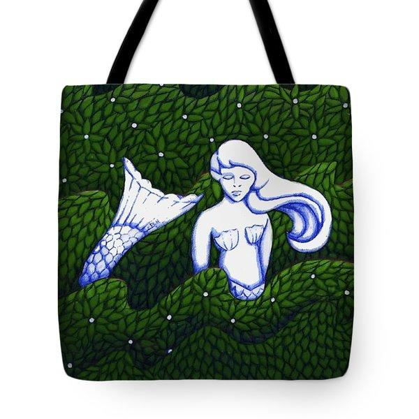 Mermaid At The Garden Tote Bag