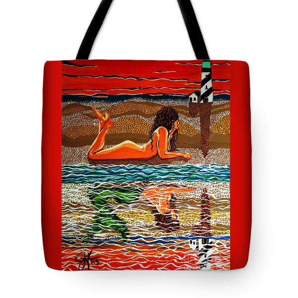 Mermaid Day Dreaming  Tote Bag by Jackie Carpenter