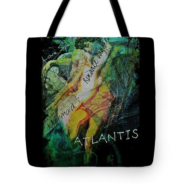 Tote Bag featuring the digital art Mermaid Love Spell by Absinthe Art By Michelle LeAnn Scott
