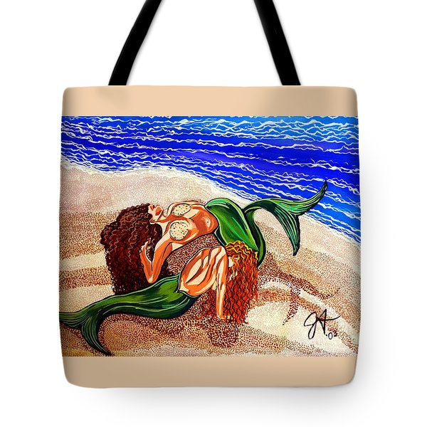 Tote Bag featuring the painting Mermaids Spent Jackie Carpenter by Jackie Carpenter