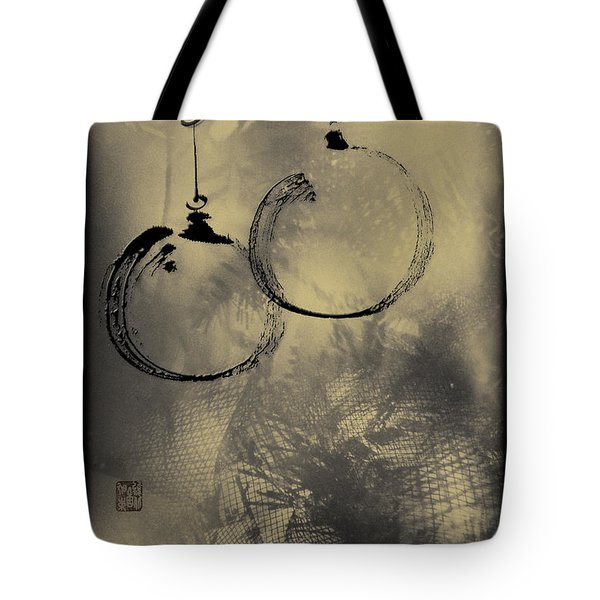 Tote Bag featuring the mixed media Merry Christmas Card by Peter v Quenter