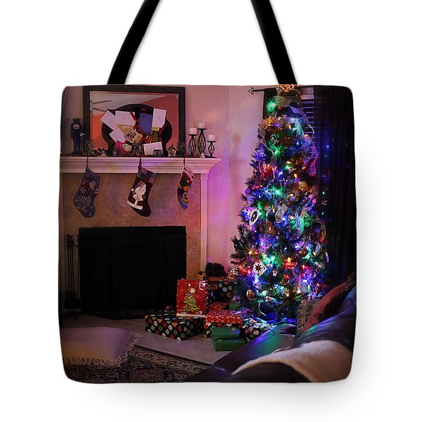 Tote Bag featuring the photograph Merry Christmas From My Home To Yours by Trish Mistric