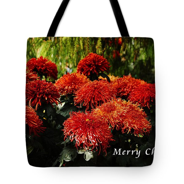 Tote Bag featuring the photograph Merry Christmas Greeting Card by Elaine Manley