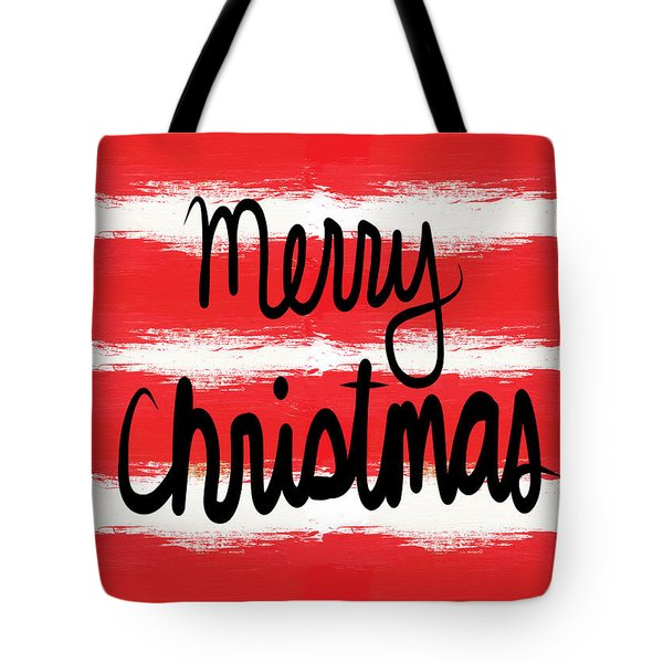 Merry Christmas- Greeting Card Tote Bag