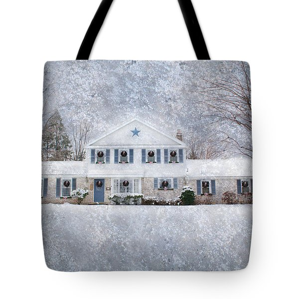 Wintry Holiday Tote Bag
