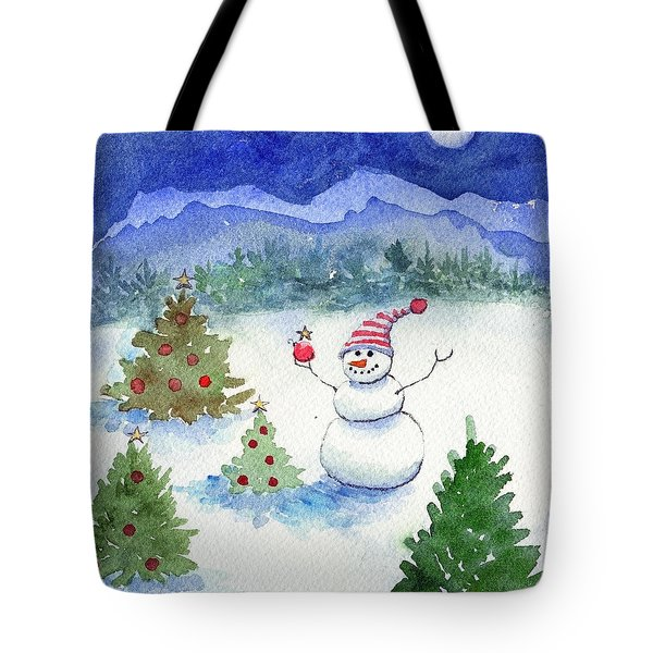 Merry Christmas Tote Bag by Katherine Miller