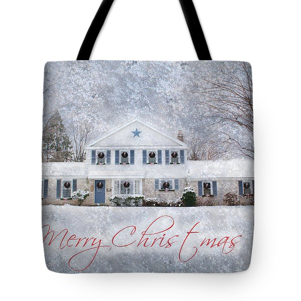 Wintry Holiday - Merry Christmas Tote Bag