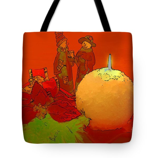Merry Christmas Tote Bag by Teresa Zieba