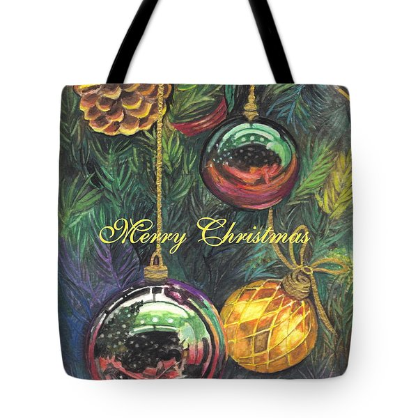 Merry Christmas Wishes Tote Bag