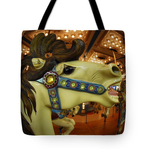 Merry Go Round Tote Bag by Sami Martin